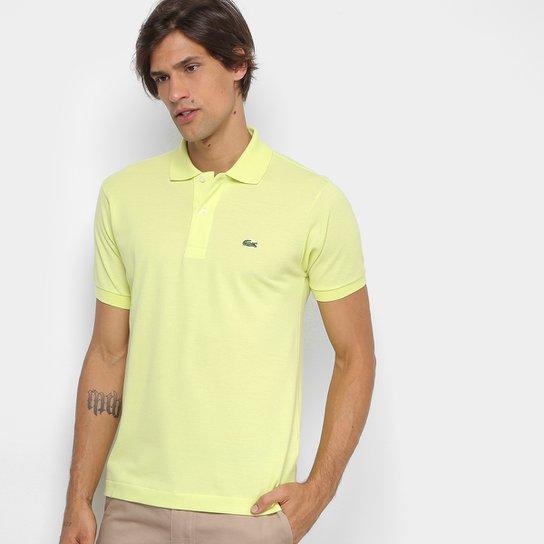 Camisa Polo Lacoste Piquet Original Masculina - Verde Limão - Compre ... 150c65385856a