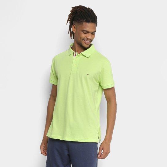 7d5c5f2282ac6 Camisa Polo Gangster Piquet Com Elastano Masculina - Verde Limão ...