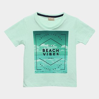 Camiseta Infantil Milon Estampa Beach Vibes Masculina 0375a9ad7fa