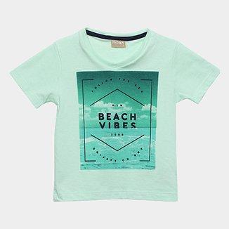 Camiseta Infantil Milon Estampa Beach Vibes Masculina b69f0f50763