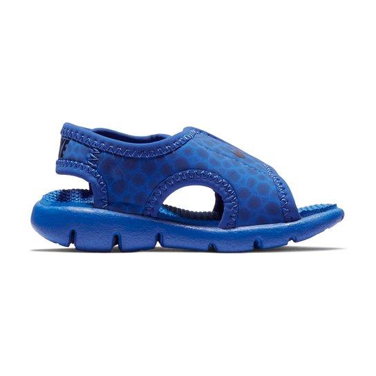 922a5298bcf Sandália Infantil Nike Sunray Adjust 4 - Azul e Azul claro - Compre ...
