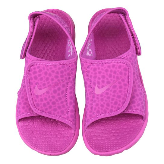 83ad5b2ac Sandália Infantil Nike Sunray Adjust 4 GGP Feminina - Preto e Rosa ...