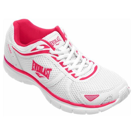 171b26fbd8eb2 Tênis Everlast Runner Feminino - Branco e Pink | Netshoes