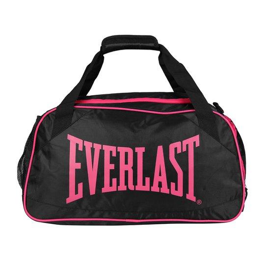 b543fef55 Bolsa Everlast Academia Feminina - Preto+Rosa