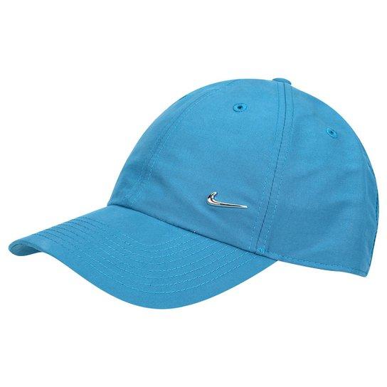 b0ca10d8a Boné Nike Metal Swoosh - Azul Claro+Preto