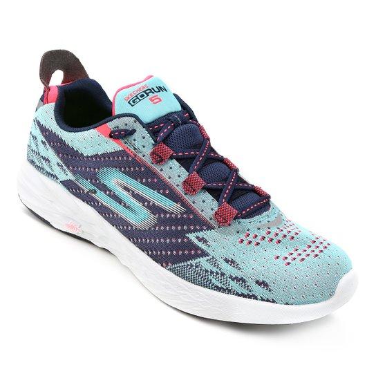 3467e1434f4 Tênis Skechers Go Run 5 Feminino - Azul Claro+Marinho