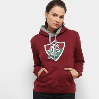 Moletom Fluminense Fechado Diferenciado Feminino 9a26a4b8ee01f