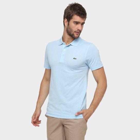 73b24cd03e9e9 Camisa Polo Lacoste Super Light Masculina - Azul Claro e Preto ...