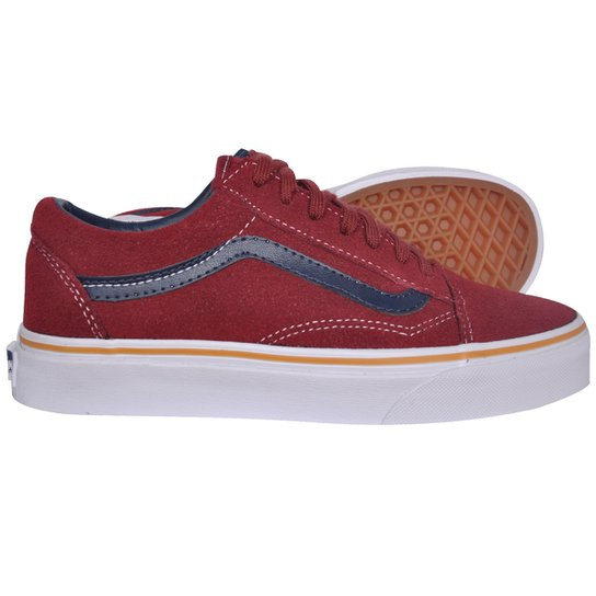 Tênis Vans Old Skool Suede Leather Oxblood Red - Compre Agora  210eed2a8
