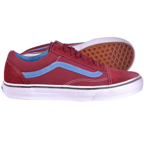 e3a994925bb Tênis Vans Old Skool Tawny Port Valarta Blue - Vinho