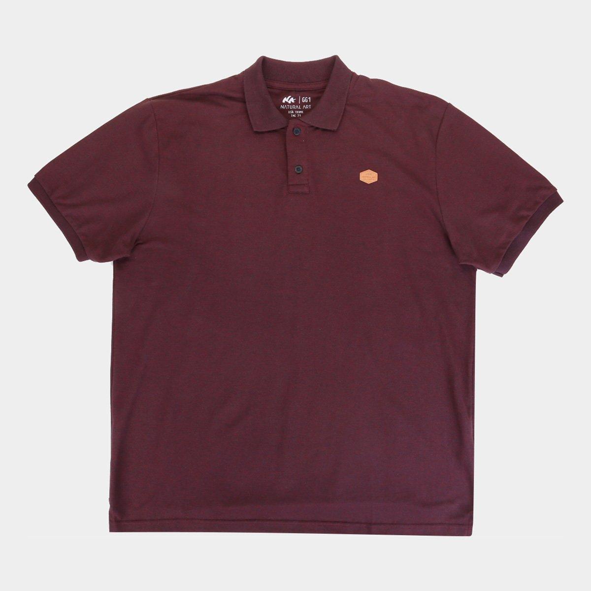Camisa Polo Natural Art Classic Plus Size Masculina