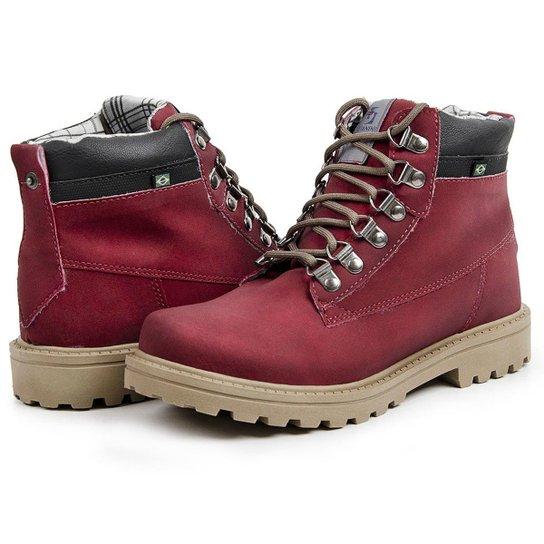 e7640d8c44 Bota Coturno Top Franca Shoes Casual Masculino - Vinho | Netshoes