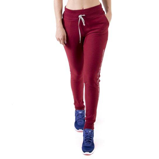 152814016 Calça Moletom Mama Latina Jogger Streetwear - Vinho | Netshoes