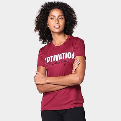 Camiseta Gonew Motivation Is The Key Feminina