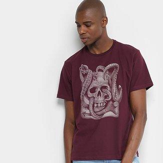 Camiseta HD Estampada Navy Skull Masculina 5abfa6c147a