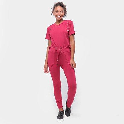 Conjunto Longo Aura Camiseta E Calça Ilhoses Feminino