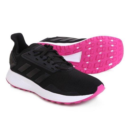 9556ae02d Tênis Adidas Duramo 9 Feminino - Preto e Rosa   Netshoes