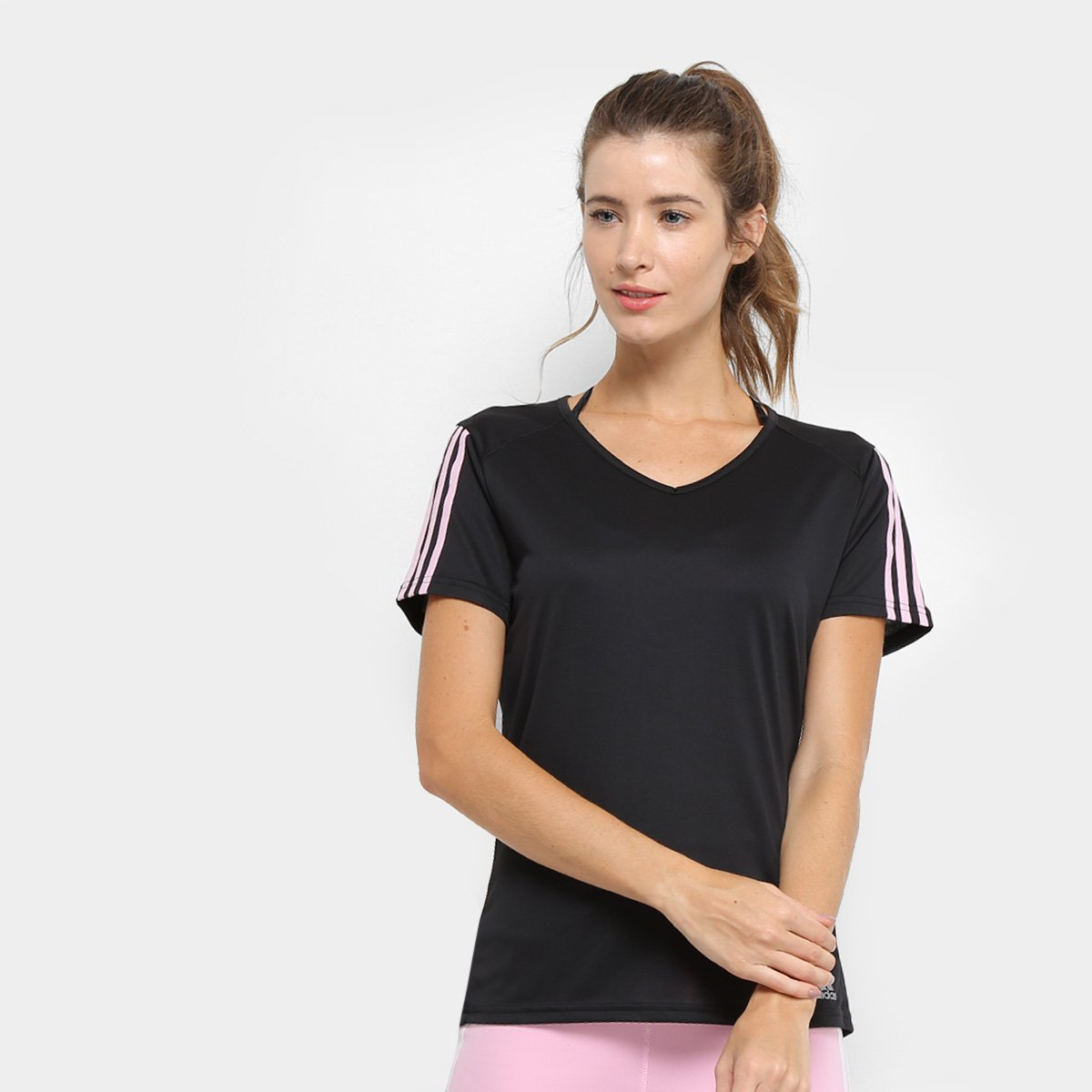 d283970790 Camiseta Adidas Run 3S Feminino