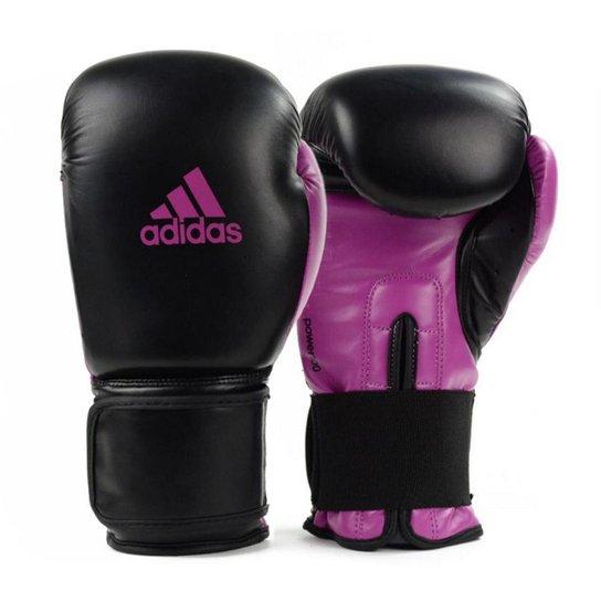 5ef8e496a Luva de Boxe Muay Thai Adidas Power 100 - Preto e Rosa