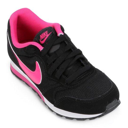 131531b3ad6 Tênis Infantil Nike Md Runner 2 - Preto e Rosa - Compre Agora