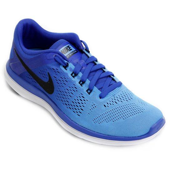 27a5b12e4a3f2 Tênis Nike Flex 2016 RN Masculino - Azul Claro+Azul