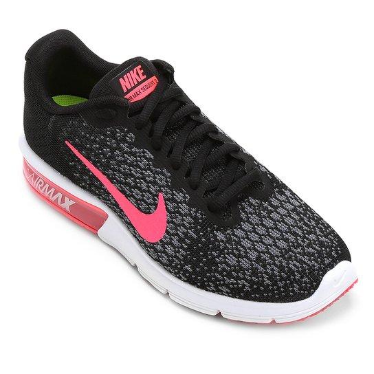 hot sale online 19040 1b178 Tênis Nike Air Max Sequent 2 Feminino - Preto+Rosa