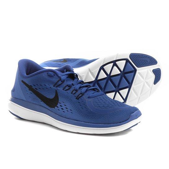 783aab5252367 Tênis Nike Flex 2017 RN Feminino - Azul Claro e Preto - Compre Agora ...