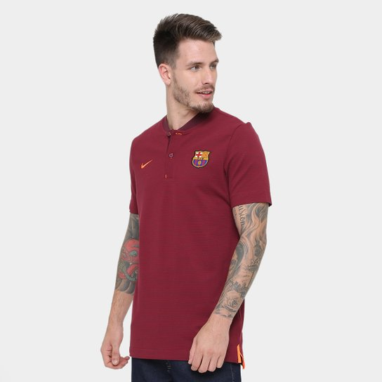 Camiseta Barcelona Nike NSW Modern Masculina - Vinho - Compre Agora ... bc8deb27515e5