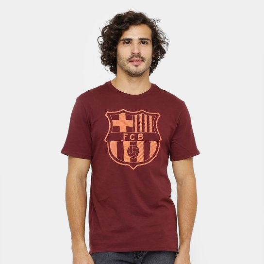Camiseta Barcelona Nike Crest Masculina - Compre Agora  2dc59f2fe8662