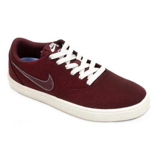 Tênis Nike Wmns Sb Check Solar Cnvs Feminino - Vinho - Compre Agora ... 219f8d42612