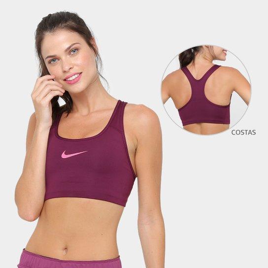 809a3fee04 Top Nike Pro Classic Swoosh Média Sustentação - Vinho - Compre Agora ...
