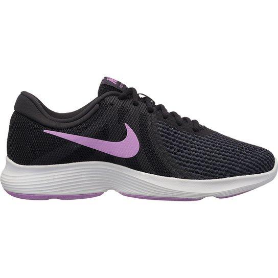 6c73035803 Tênis Nike Wmns Revolution 4 Feminino - Preto e Rosa - Compre Agora ...