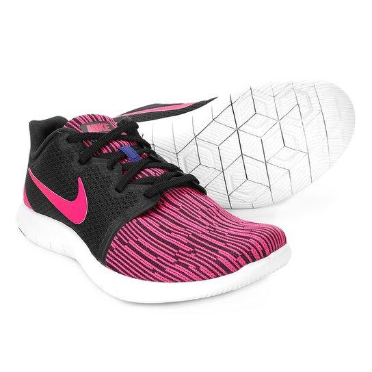 4f0b056a78 ... Tênis Nike Flex Contact 2 Feminino - Preto e Rosa - Compre Agora .