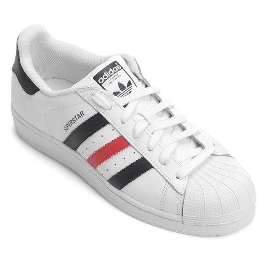 c74817659ff Tênis Couro Adidas Superstar Foundation Masculino - Compre Agora ...