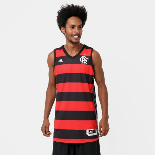 Camiseta Regata Adidas Flamengo 1 - Vermelho+Preto b0a6bf25888fc
