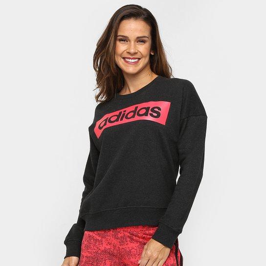 41ef7d0840b Moletom Adidas Ess Linearsweat Feminino - Compre Agora