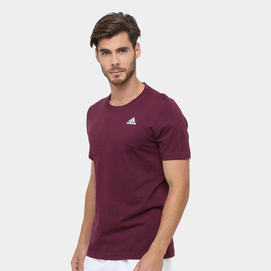 2a3ea09cb Camiseta Adidas Essential Base Masculina - Vinho - Compre Agora ...