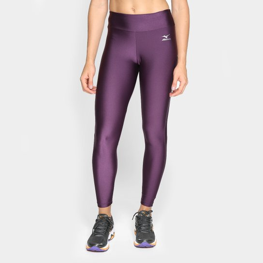 Calça Legging Mizuno Fit Shine Feminina - Vinho - Compre Agora ... 000b5bdaa81c8