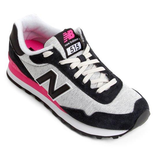 e44a1b005d Tênis Couro New Balance 515 Feminino - Preto e Rosa - Compre Agora ...