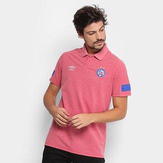 Camisa Polo Bahia Umbro Viagem 18 Masculina 50048c9ea293f