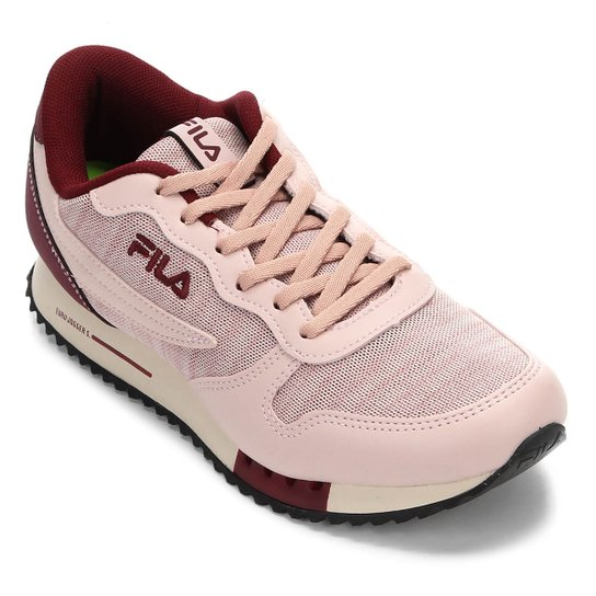 1c8cf3330a0 Tênis Fila Euro Jogger Sport Feminino - Rosa Claro - Compre Agora ...