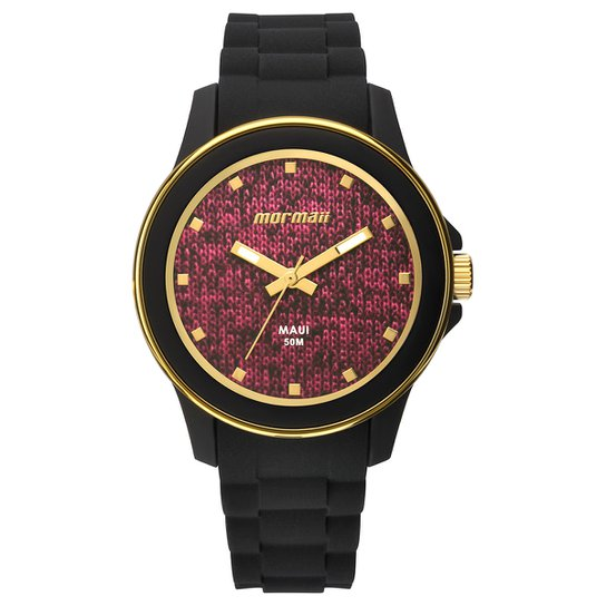 0e8d1315cffb6 Relógio Mormaii Analógico Mo2035Hy-8T Feminino - Preto e Rosa ...