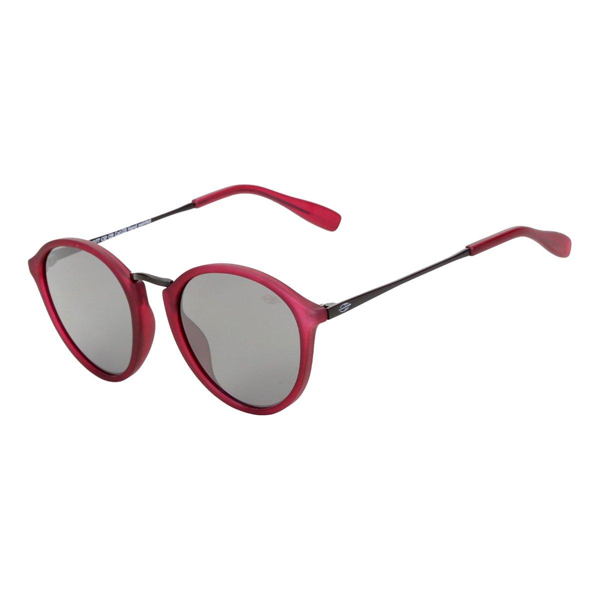 Óculos De Sol Mormaii Cali Burgundy Fosco Lente Cinza