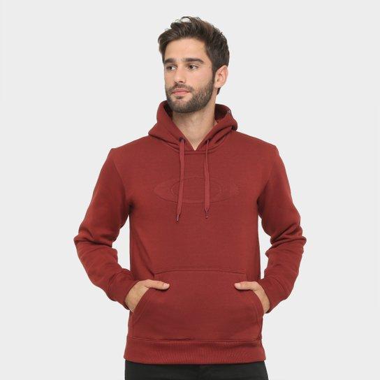 Moletom Oakley Mod One Brand c  Capuz Masculino - Vinho - Compre ... 3535784d7e