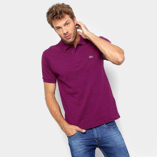 fd337bff858 Camisa Polo Lacoste Original Fit Masculina - Vinho - Compre Agora ...