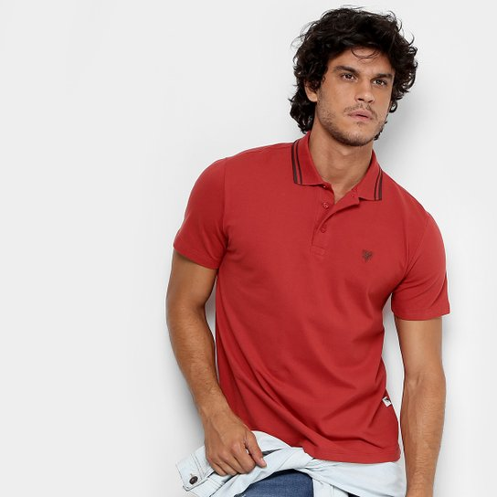 f2b79d0f54 Camisa Polo Cavalera Piquet Frisos Masculina - Vinho - Compre Agora ...