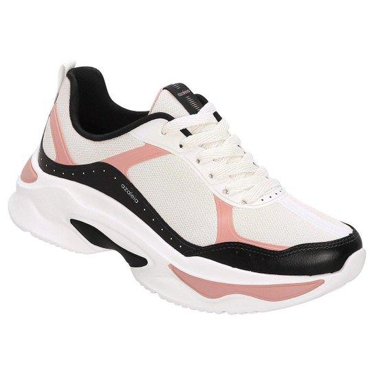 f19ff72bc8 Tênis Azaleia Chunky Sneaker Feminino - Preto e Rosa