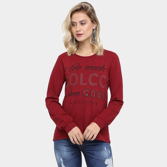 6ed93de07d Moletom Colcci Silk Strass Feminino - Compre Agora