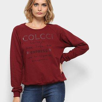 d81078bbf Moletom Colcci Estampado Hotfix Feminino