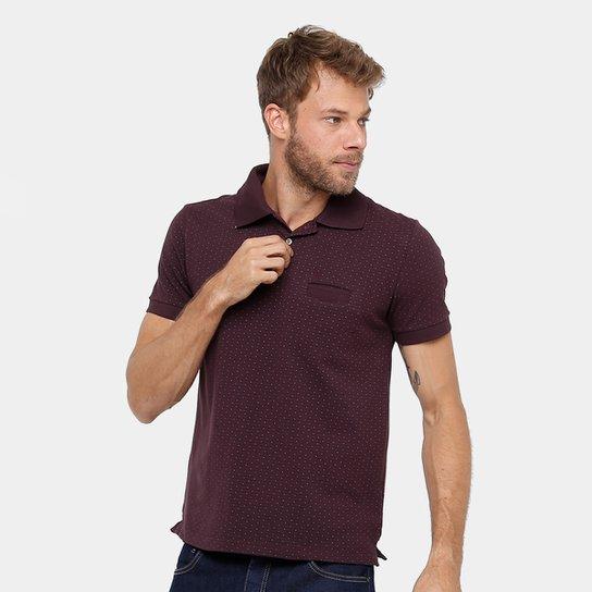 Camisa Polo Forum Piquet Mini Print Masculina - Compre Agora  124069ed6c46c